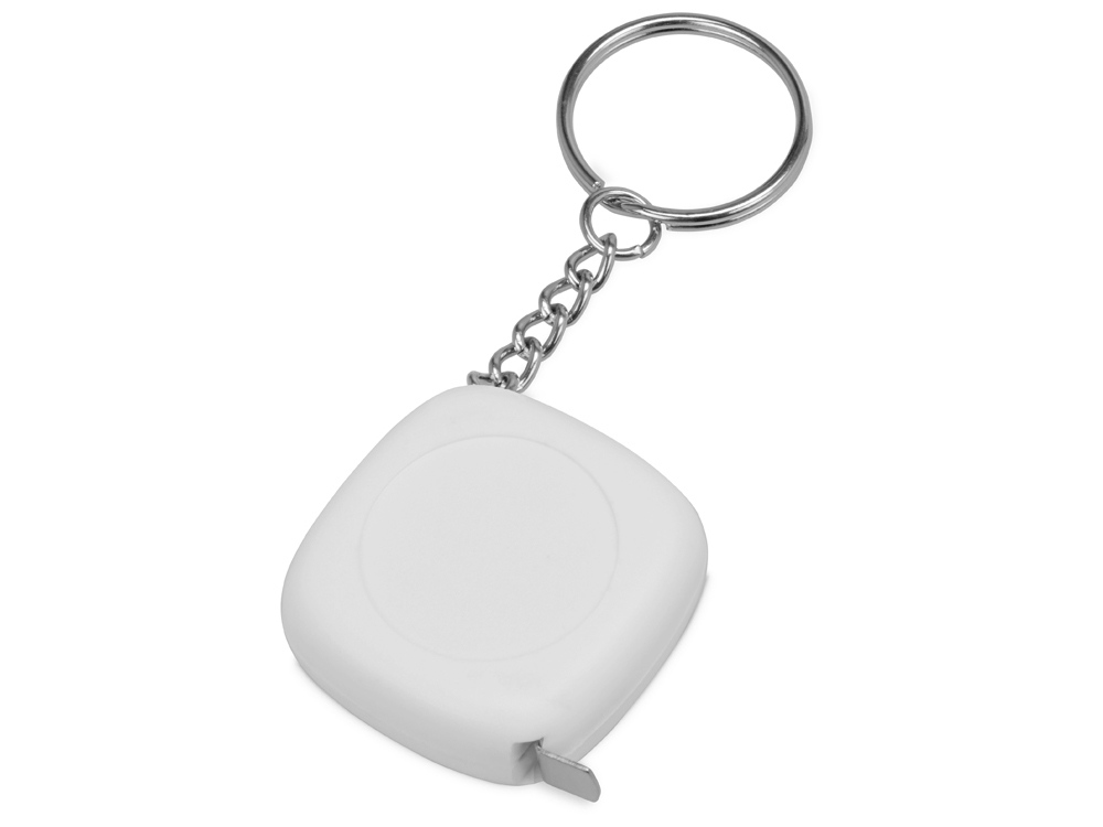 Брелок-рулетка 1м Block, белый