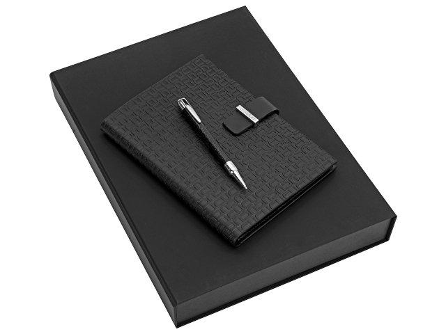 Подарочный набор: дизайнерский блокнот А5, ручка шариковая