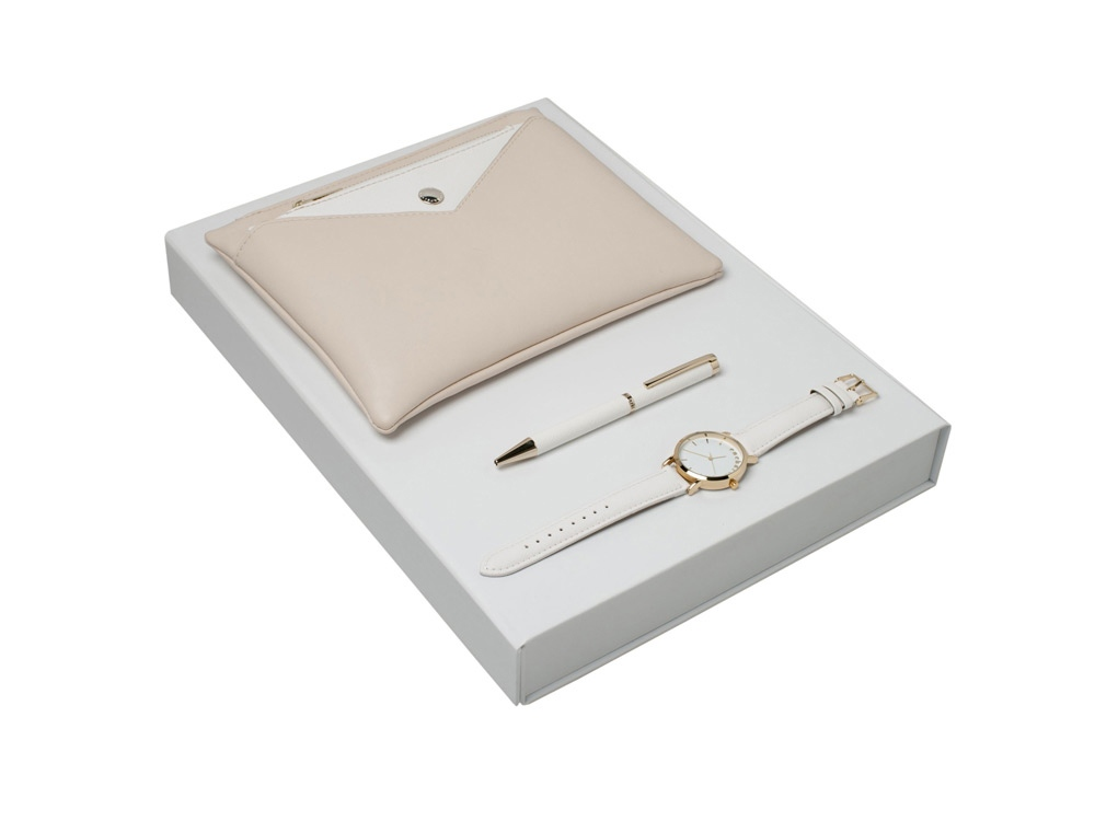 Подарочный набор Bagatelle: часы наручные, ручка шариковая, сумочка. Cacharel