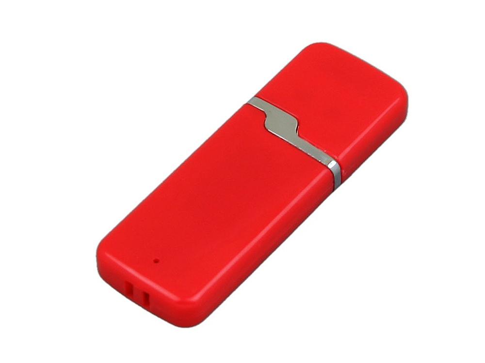 Флешка промо прямоугольной формы c оригинальным колпачком, 16 Гб, красный