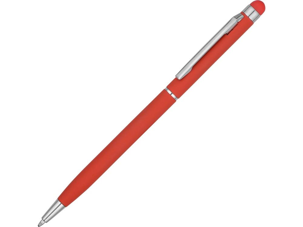 Ручка-стилус шариковая Jucy Soft с покрытием soft touch, красный