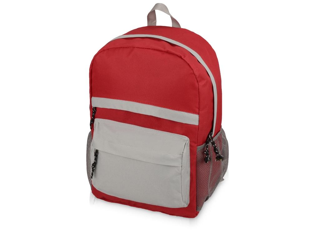 Рюкзак Универсальный (серая спинка), красный/серый