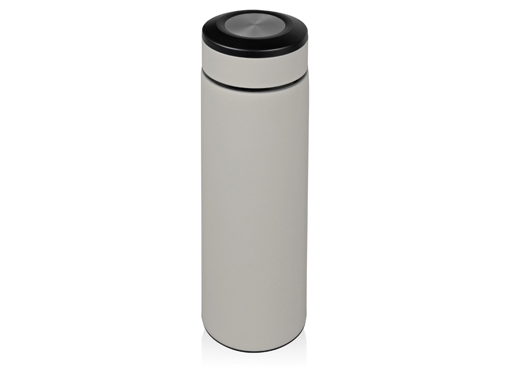 Термос Confident с покрытием soft-touch 420мл, серый