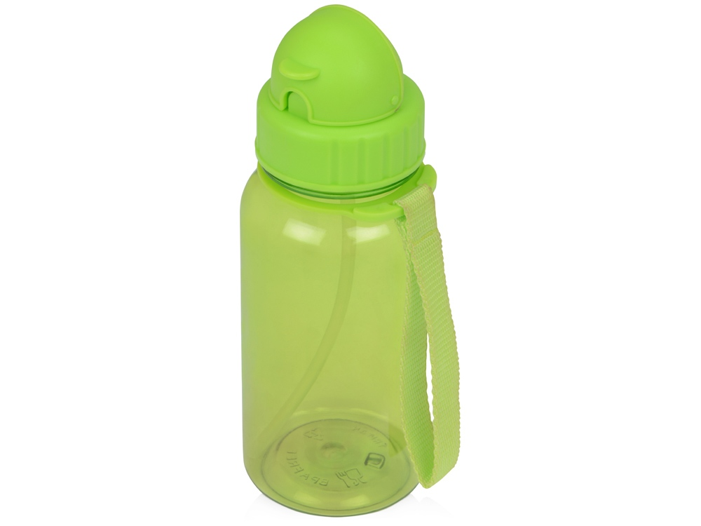 Бутылка для воды со складной соломинкой Kidz 500 мл, зеленое яблоко