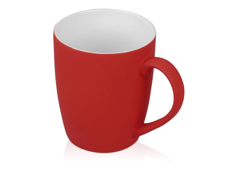 Кружка керамическая с покрытием софт тач красная