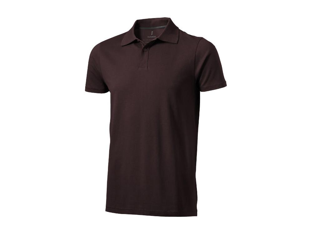 Рубашка поло Seller мужская, шоколадный коричневый