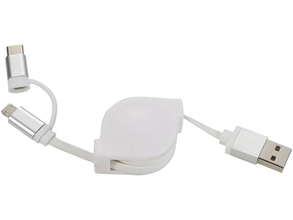 Набор кабелей Triple 3 в 1, белый