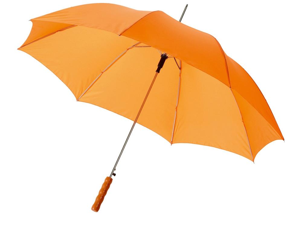 Зонт-трость Lisa полуавтомат 23, оранжевый
