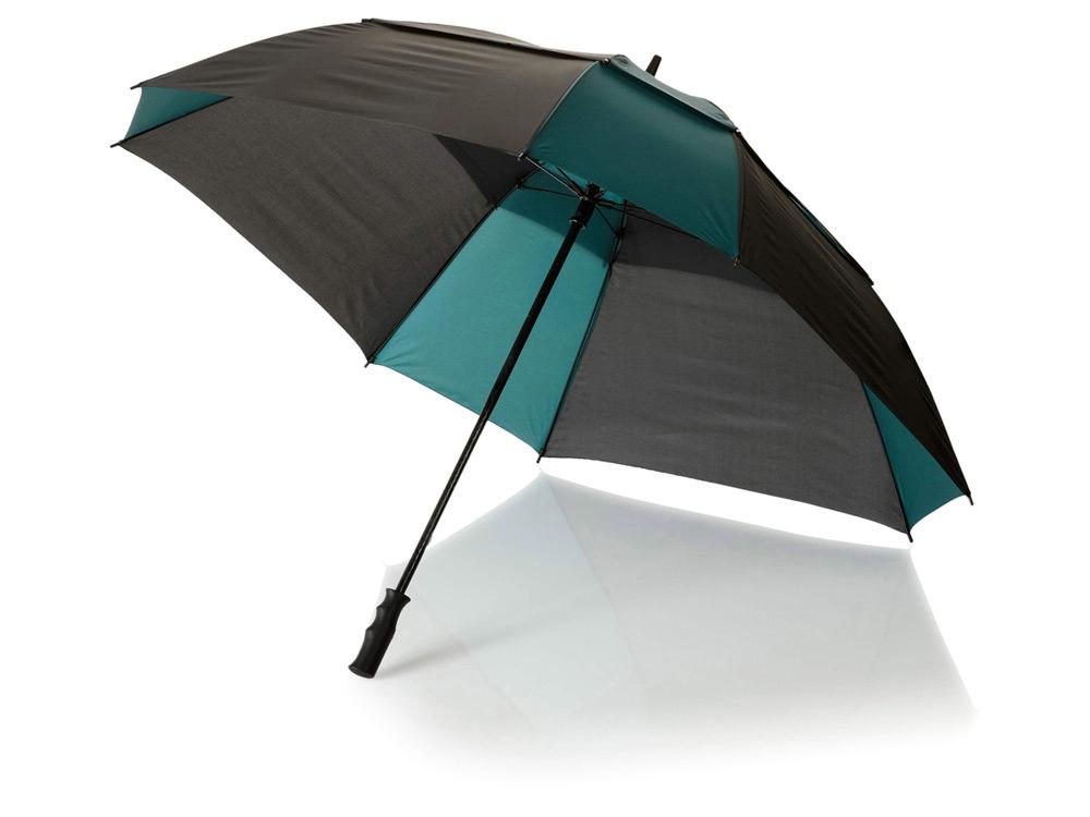 Зонт трость Helen, механический 30, черный/темно-зеленый