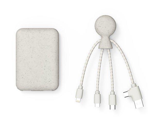 Портативное зарядное устройство «BioPack» c кабелем «Mr. Bio», 5000 mAh