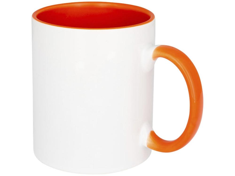 Цветная кружка Pix для сублимации, белый/оранжевый