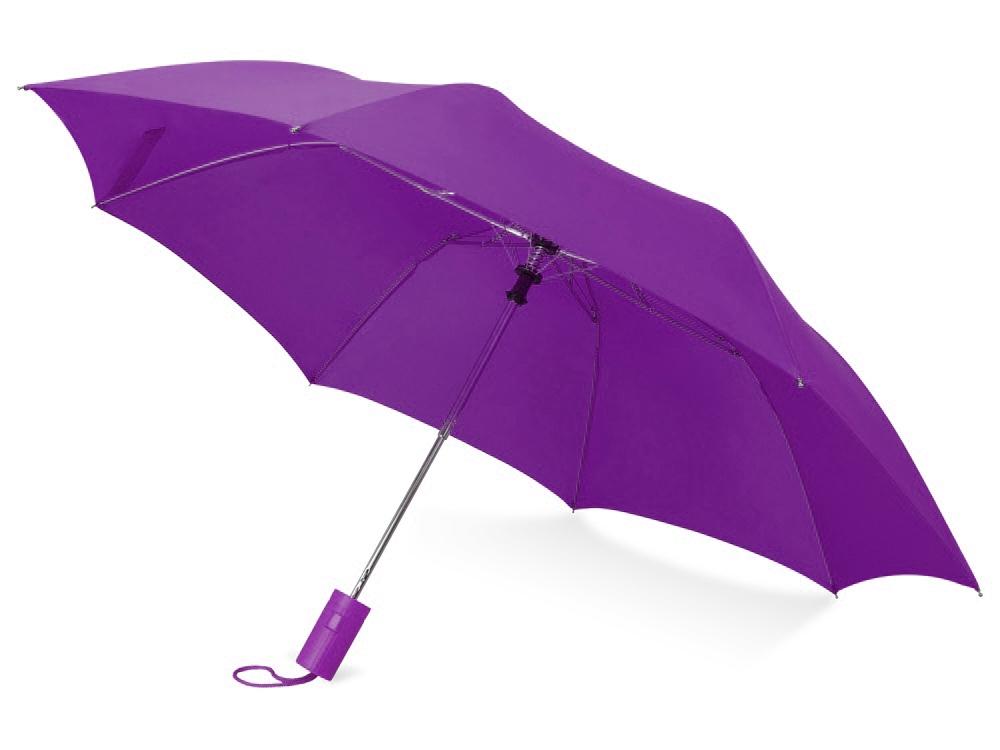 Зонт складной Tulsa, полуавтоматический, 2 сложения, с чехлом, фиолетовый