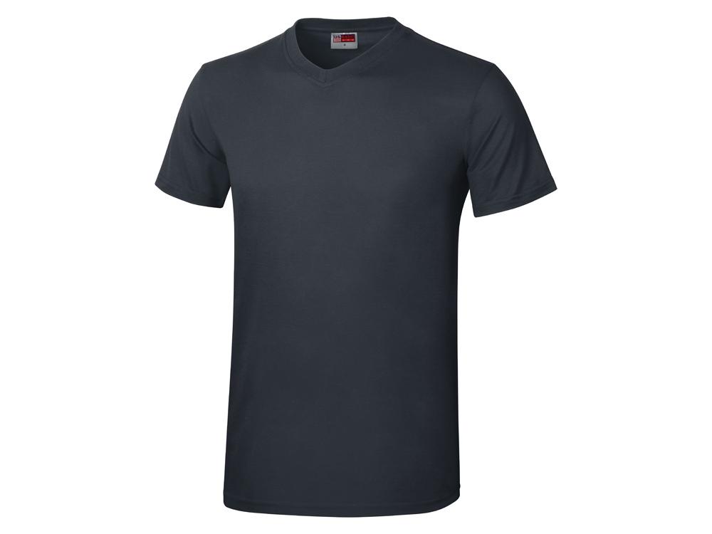 Футболка Heavy Super Club мужская с V-образным вырезом, темно-синий