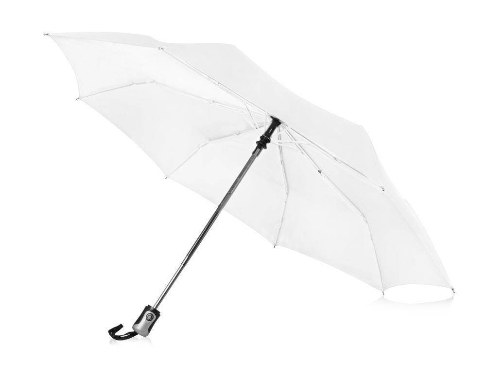 Зонт Alex трехсекционный автоматический 21,5, белый
