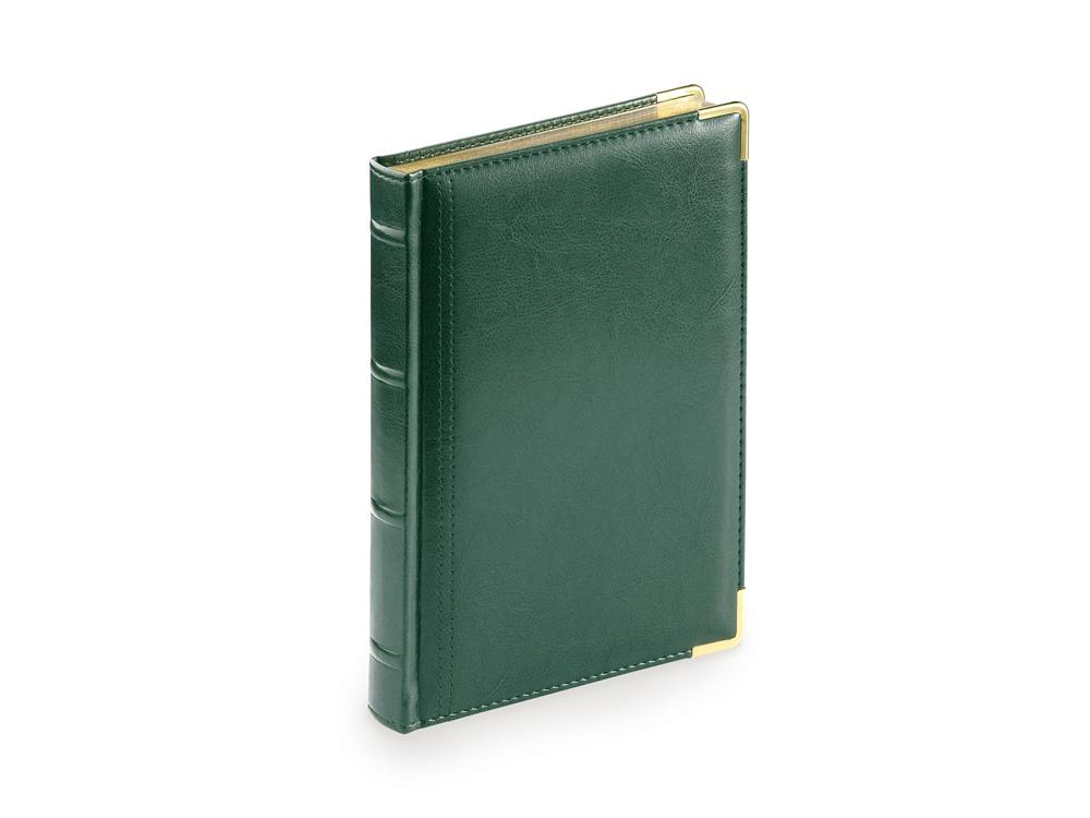 Ежедневник А5 полудатированный Boss, зеленый