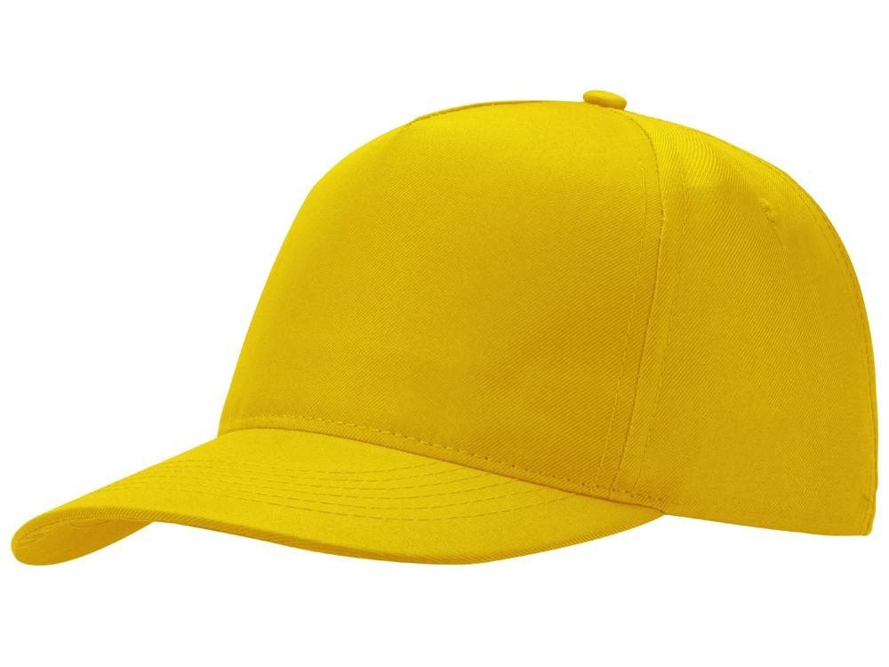 Бейсболка Poly 5-ти панельная, желтый