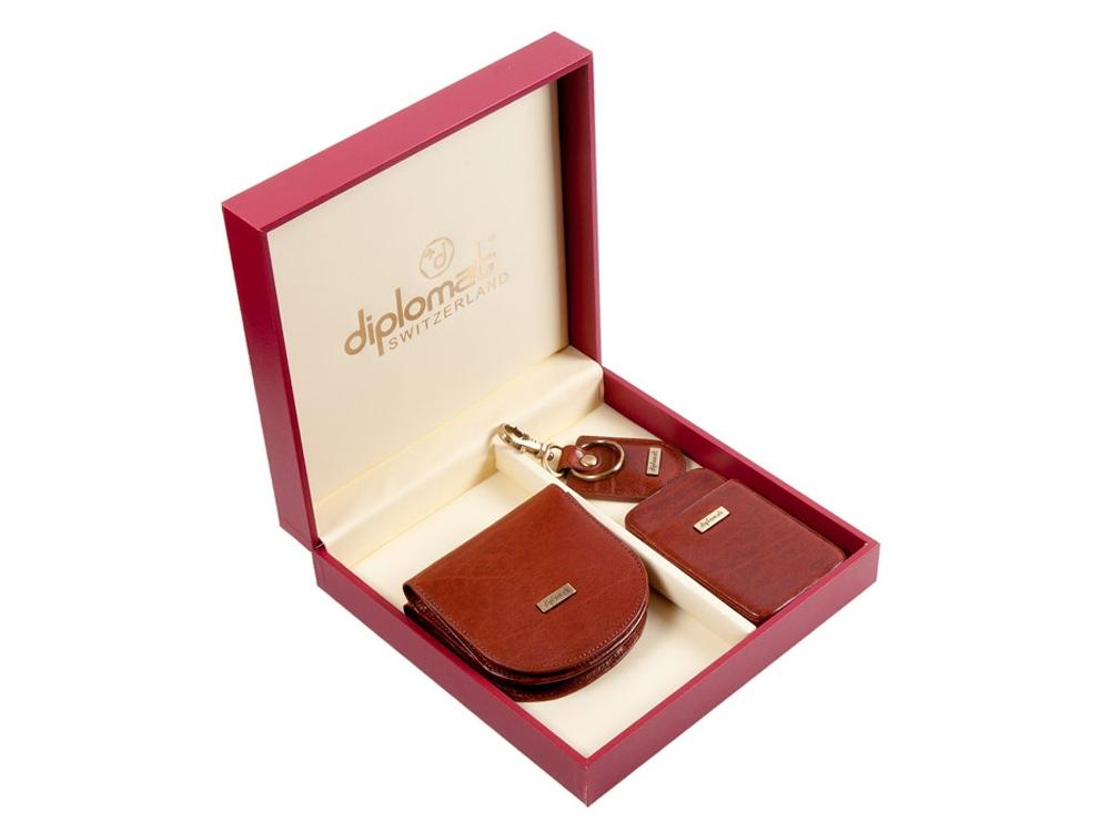 Подарочный набор: дамское портмоне, визитница и брелрк