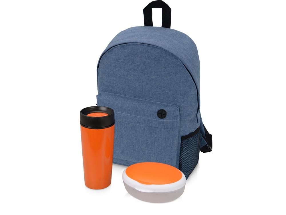 Подарочный набор Lunch с термокружкой, ланч-боксом, оранжевый
