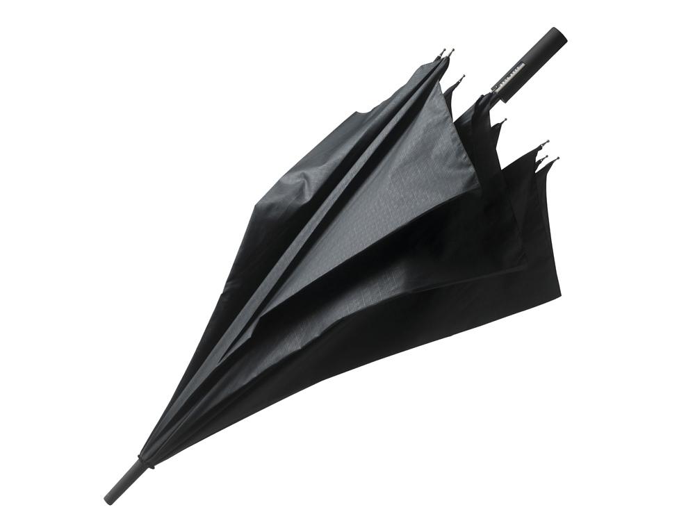 Зонт-трость Grid Golf. Hugo Boss, черный