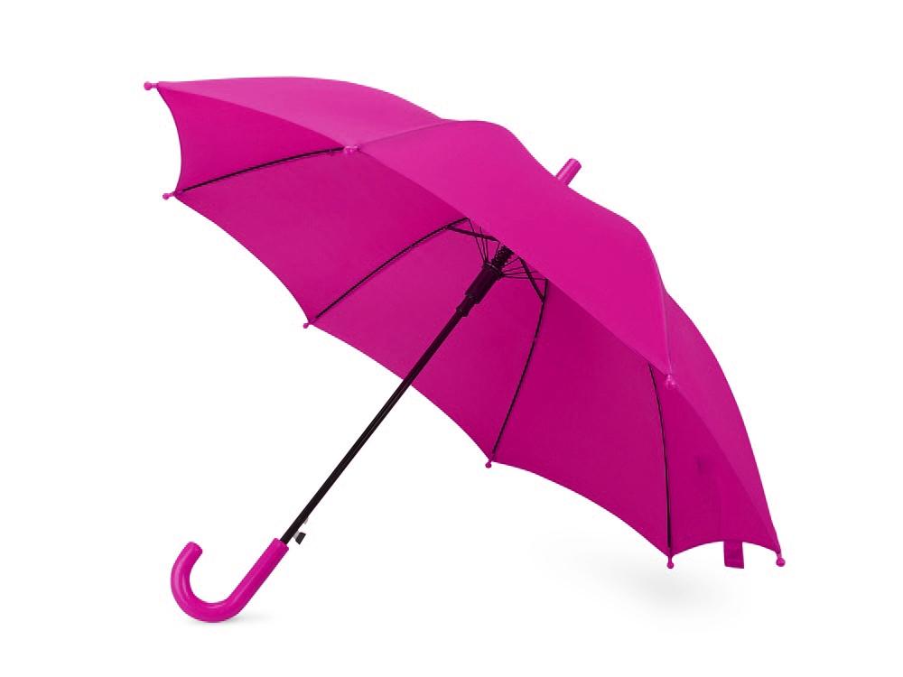 Зонт-трость Edison, полуавтомат, детский, фуксия