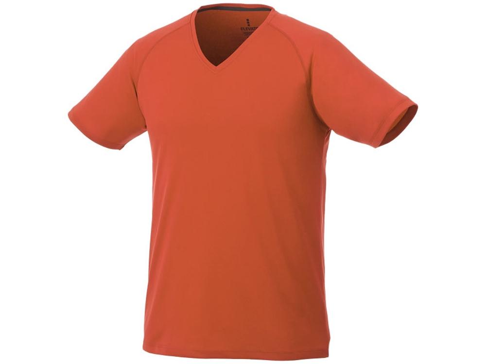 Модная мужская футболка Amery с коротким рукавом и V-образным вырезом, оранжевый