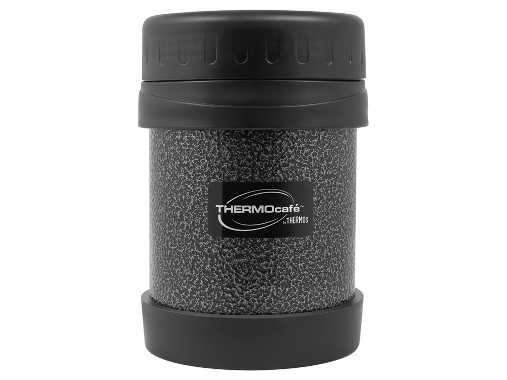 Термос из нерж. стали для еды тм ThermoCafe HAMJNL-350FJ Hammertone Coating, 0.35L, серый