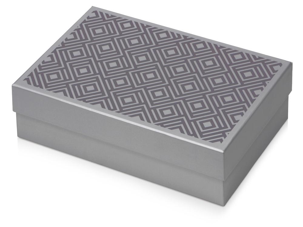 Подарочная коробка Corners большая, серебристый