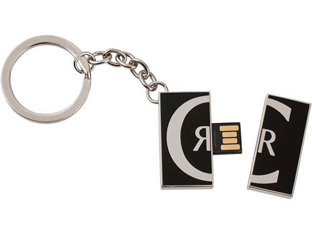 Набор Cerruti 1881: визитница, ручка роллер, брелок с флеш-картой USB 2. на 4 Гб