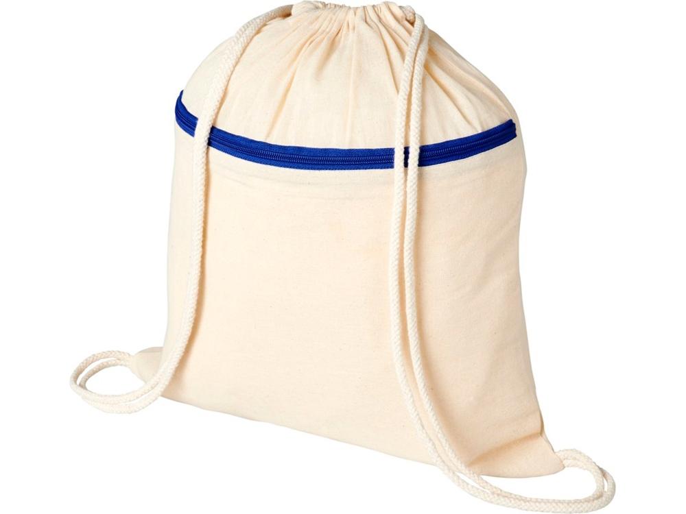 Рюкзак Oregon на молнии с кулиской, натуральный/синий