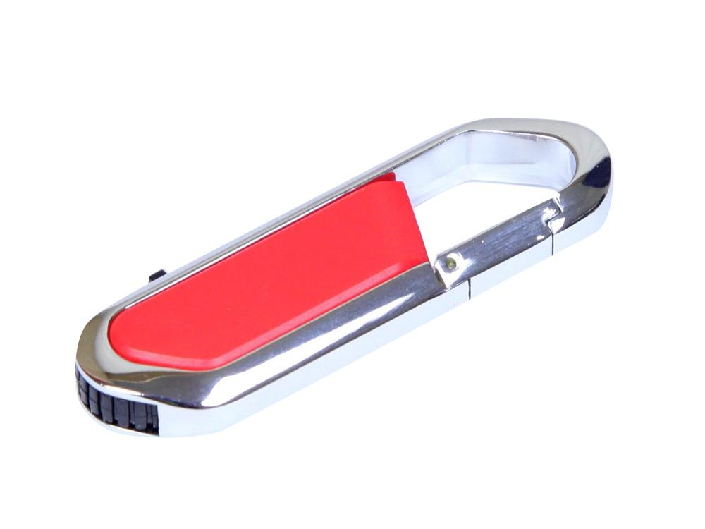 Флешка в виде карабина, 64 Гб, красный/серебристый