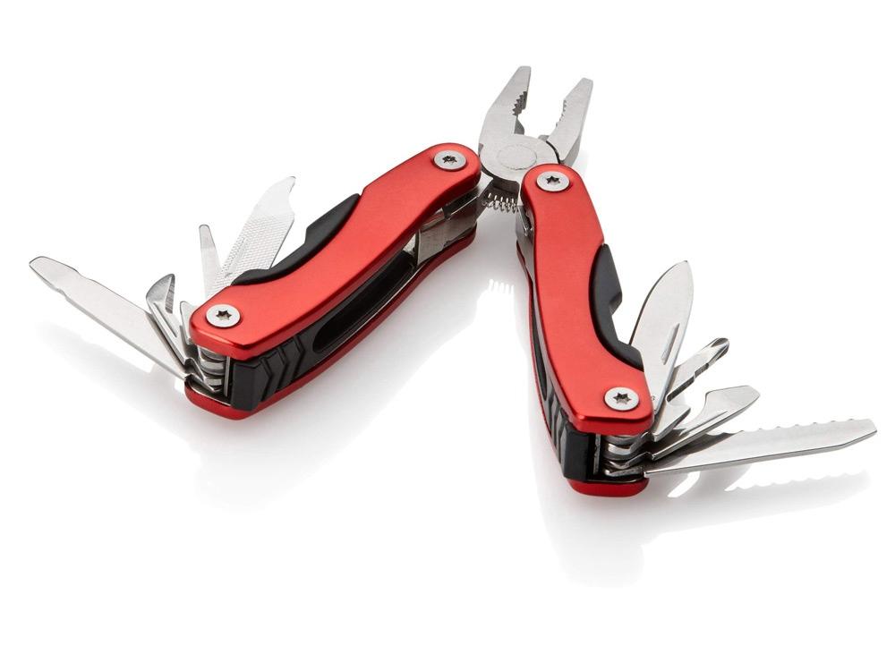 Инструмент многофункциональный в чехле, красный