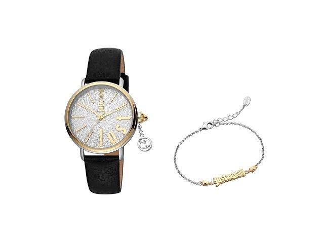 Подарочный набор: часы наручные женские, браслет (арт. 60002)