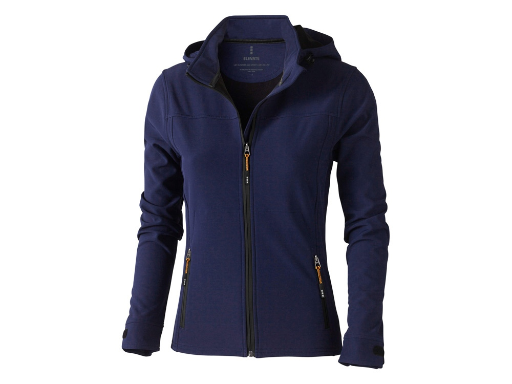 Куртка софтшел Langley женская, темно-синий