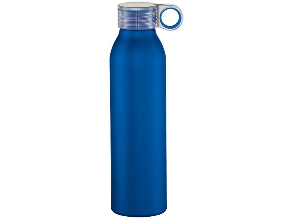 Спортивная алюминиевая бутылка Grom, ярко-синий
