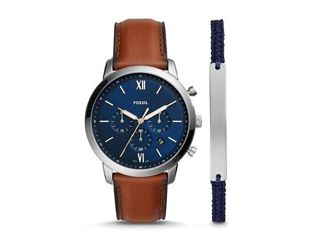 Подарочный набор: часы наручные мужские, браслет (арт. 29671)
