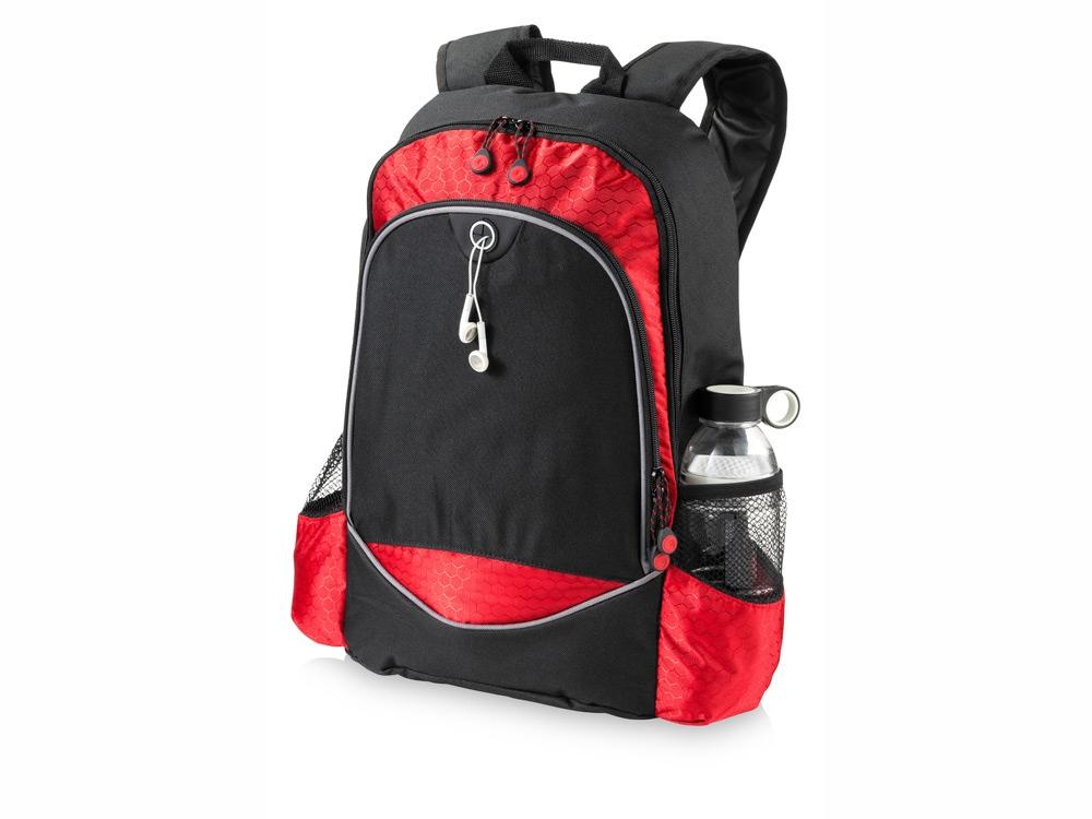 Рюкзак Benton для ноутбука 15, черный/красный