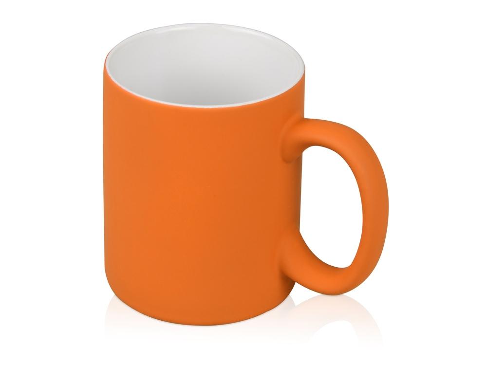 Кружка с покрытием soft-touch Barrel of a Gum, оранжевый