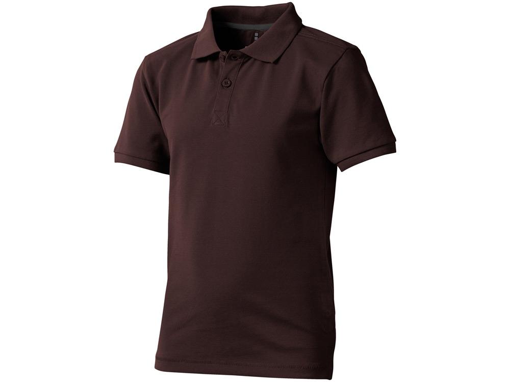 Рубашка поло Calgary детская, шоколадный