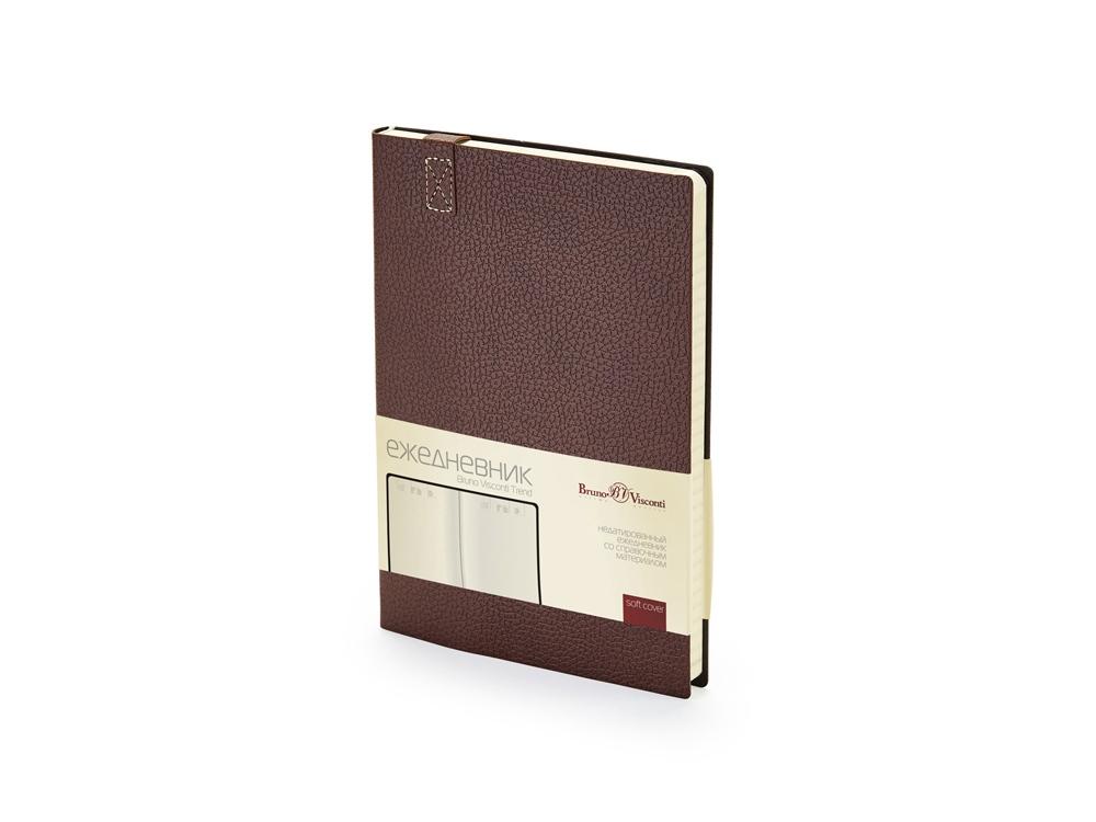 Ежедневник А5 недатированный Trend, коричневый