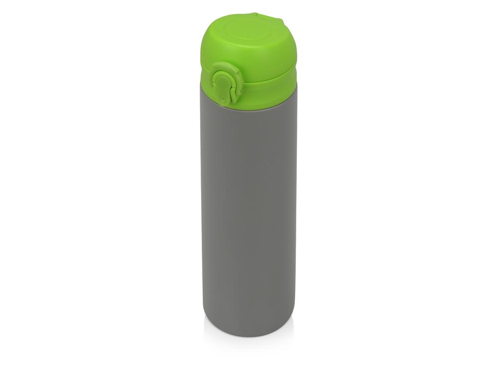 Вакуумная термокружка Хот 470мл, серый/зеленое яблоко