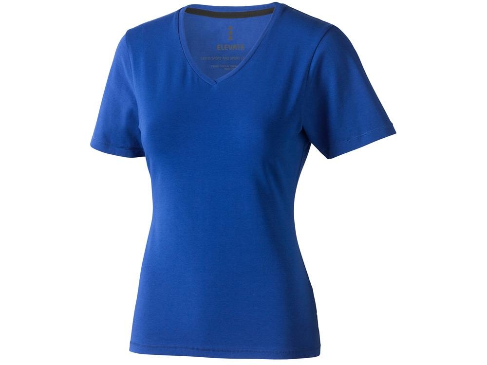 Футболка Kawartha женская с V-образным вырезом, синий