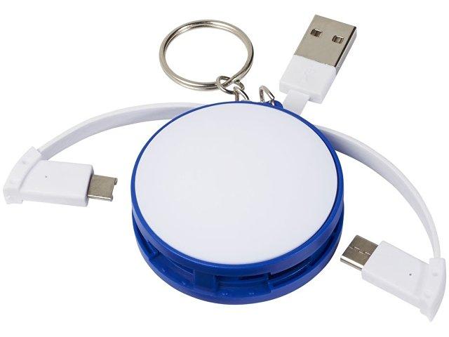 Зарядный кабель 3-в-1, синий