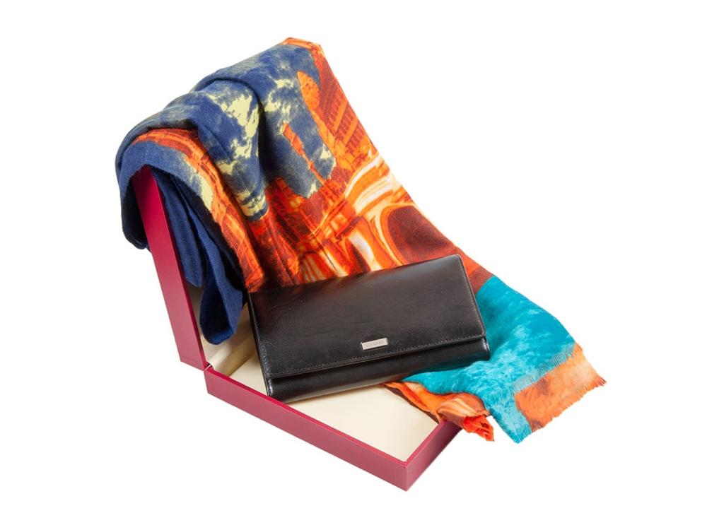 Подарочный набор: дамское портмоне и стильный шарф