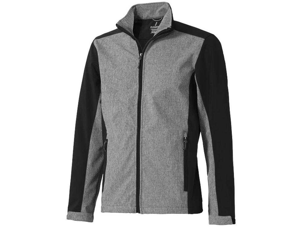 Куртка софтшел Vesper мужская, черный/темно-серый