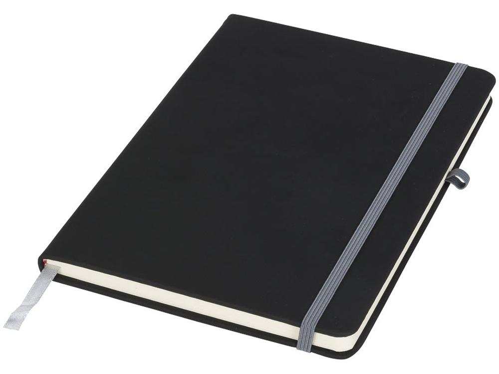 Блокнот Noir среднего размера, черный/серый