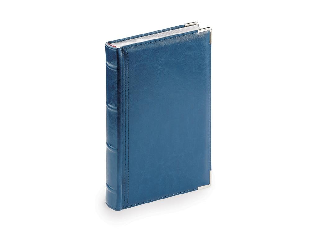 Ежедневник А5 полудатированный Boss, синий