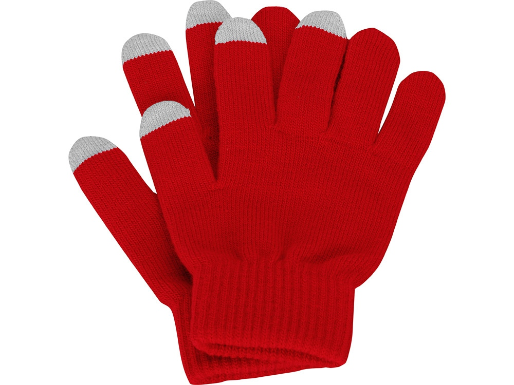 Перчатки для сенсорного экрана, красный, размер L/XL