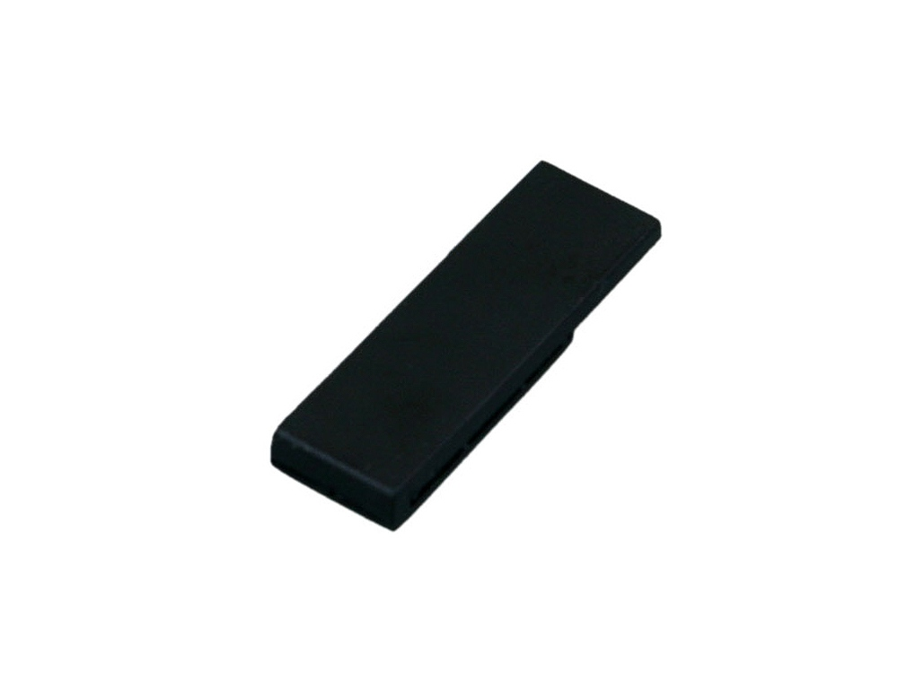 Флешка промо в виде скрепки, 64 Гб, черный