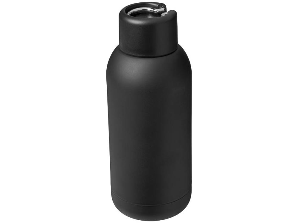 Спортивная бутылка с вакуумной изоляцией Brea объемом 375мл, черный