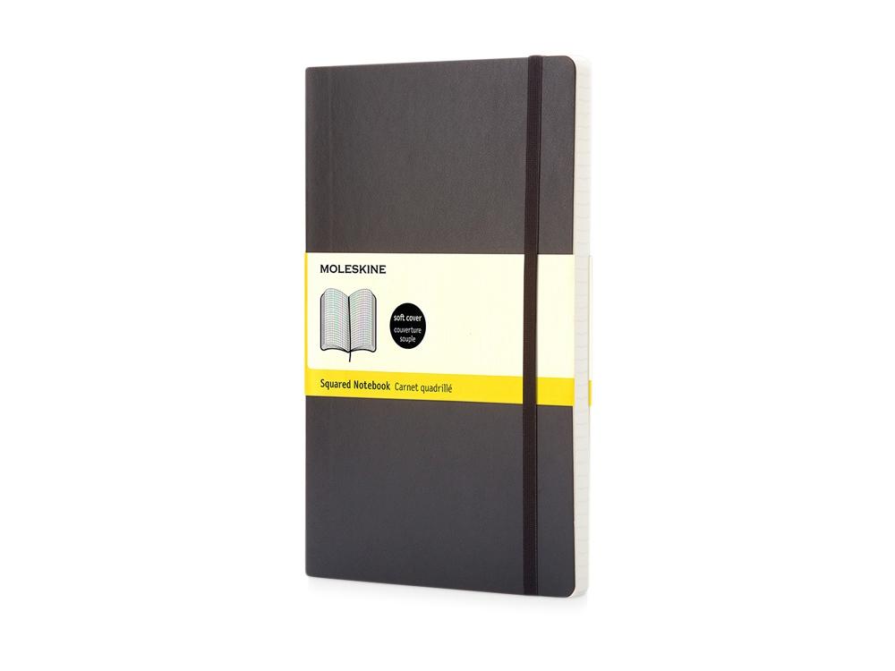 Записная книжка Moleskine Classic Soft (в клетку), Pocket (9x14 см), черный